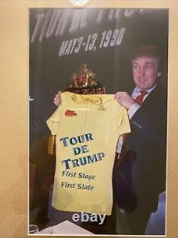 1990 President Trump Signed Tour De Trump Letter With Envelope & Photos, Rare