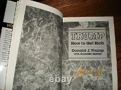 2 SIGNED HC-President Donald and Ivanka Trump How to Get Rich + The Trump Card