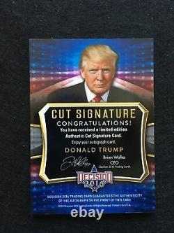 2016 Decision Donald Trump Cut Signature autograph (Red Tie)