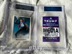 2016 JSA Autograph Media Donald Trump Signed & 1989 BGS 9 Rotten To The Core #26