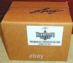 2020 Decision Premium Cut Factory Sealed Box/Case Auto Signed Donald TrumpObama
