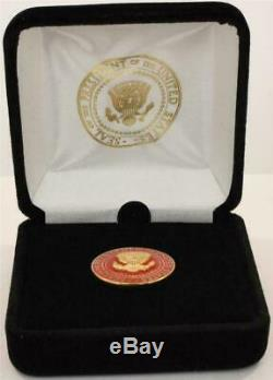 2020 President Donald Trump White House Gift RED POTUS Seal Lapel Pin SIGNED