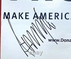 45th PRESIDENT DONALD J. TRUMP SIGNED FRAMED CAMPAIGN POSTER BECKETT BAS 2020