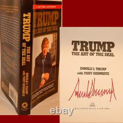 AUTOGRAPHED Art of the Deal Book Hand Signed by President DONALD TRUMP withProof