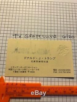 AUTOGRAPHED Donald J. Trump Vintage Signed Rare Business Card Japanese reverse