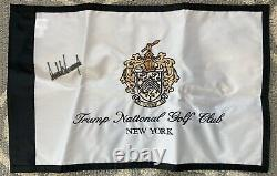 AUTOGRAPHED (Donald Trump) President Of The United States. Autographed Flag