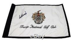 AUTOGRAPHED President Donald Trump OFFICIAL TRUMP NATIONAL GOLF CLUB Flag with COA