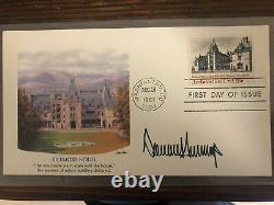 American President Donald Trump signed autograph first day cover 1981