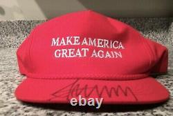 Authentic 2016 Donald Trump Signed MAGA Hat Myrtle Beach, SC Campaign