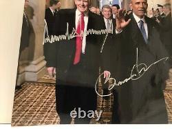 Autographed President Donald Trump & Barack Obama 8x10 Dual Signed Photo