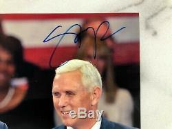 Autographed President Donald Trump & Mike Pence 8x10 Photo with COA