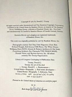 Certified Donald J. Trump SIGNED Official 2016 Election -The Art Of The Deal