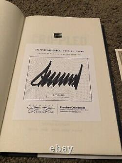 Crippled America Signed Book 717/10,000 by President Donald J. Trump