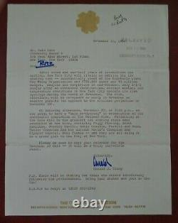 DONALD J. TRUMP Autographed / Signed letter NYC Wollman Ice Rink 1986 JSA/LOA