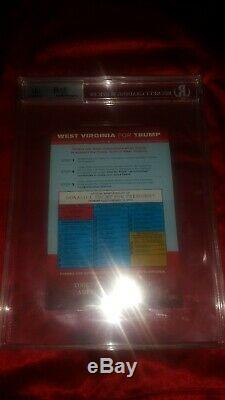DONALD TRUMP AUTOGRAPHED SIGNED VOTER CARD BECKETT BAS LOA NOT PSA or JSA