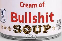 DONALD TRUMP Fake News BULLSHIT Soup Can Signed Ltd Edition WARHOL POP ART Print