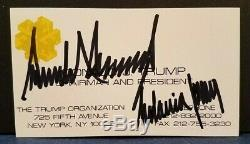 DONALD TRUMP & MELANIA TRUMP Signed Business Card