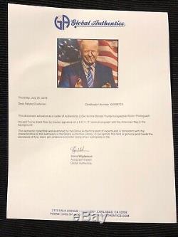 DONALD TRUMP SIGNED Make America Great Again MAGA 8x10 USA Photo with GA LOA coa $