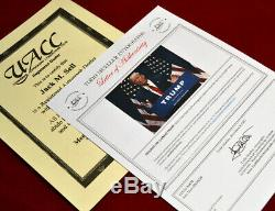 DONALD TRUMP Signed Autograph, COA, UACC, PSA/DNA Guaranteed, FRAME, HAT, Paper