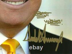 DONALD TRUMP original autograph signed 8x10 photo 45th President of USA