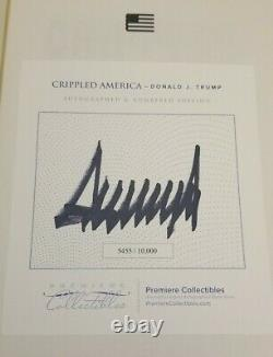 Donald J Trump Crippled America Book signed with COA Autographed #5455 Hardcover