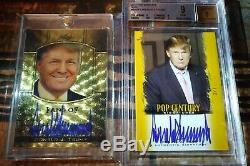 Donald Trump 2011 Leaf Metal SUPER COLLECTION Signed Auto Autograph 1/1 + ALL