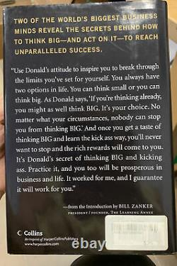 Donald Trump AUTOGRAPHED Book Think Big And Kick Ass 1st Edition