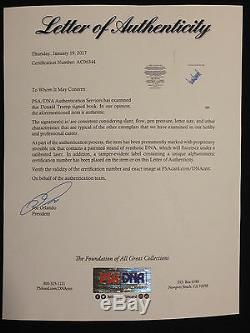 Donald Trump Art Of The Deal 1987 First Edition Autographed Signed Psa Dna Loa