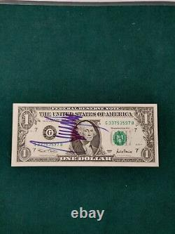 Donald Trump Authentic Signed Autograph US $1 Dollar Bill POTUS with COA