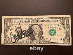 Donald Trump Autograph Signed $1 Dollar Bill