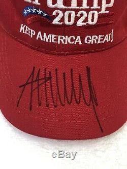 Donald Trump Autographed 2020 KEEP AMERICA GREAT Red Hat COA