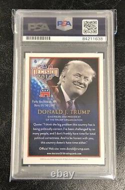 Donald Trump Autographed Decision 2016 Trading Card PSA Authenticated