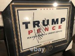 Donald Trump Autographed MAGA Poster With Secret Service Challenge Coins