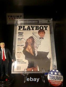 Donald Trump Autographed Playboy Magazine BAS Beckett Encapsulated Full LOA rare