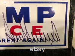 Donald Trump Autographed Signed Campaign Bumper Sticker MINT condition with COA