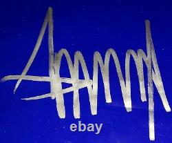 Donald Trump Autographed Signed Campaign Sign. Beckett Certified Autograph
