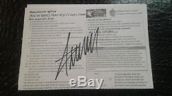 Donald Trump Autographed/signed Voter Registration Form