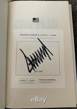 Donald Trump Crippled America Autographed Book