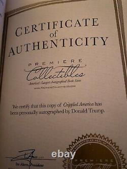 Donald Trump Crippled America book signed with COA USA! Great condition