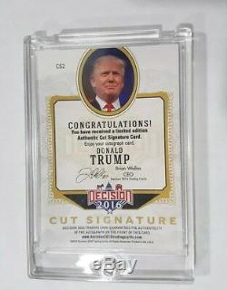Donald Trump Decision 2016 Signed Autograph Cut Signature Blue Foil RARE Series1
