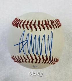 Donald Trump Hand Signed Autographed Baseball COA/Cube