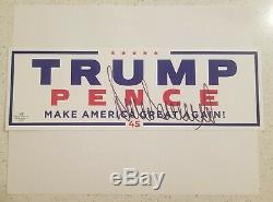 Donald Trump Hand Signed Autographed MAGA Campaign Sticker with COA and More