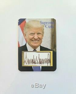 Donald Trump Hand-Signed, Autographed Photo with COA + Bonus Items See Details