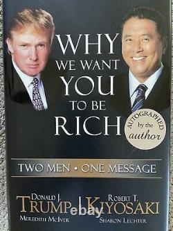 Donald Trump Hand Signed Book