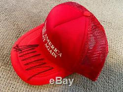 Donald Trump Hand Signed MAGA Hat With COA