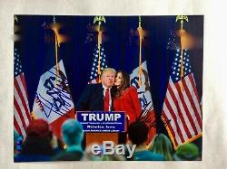 Donald Trump & Melania Trump Hand Signed Authentic, Includes COA /Rally