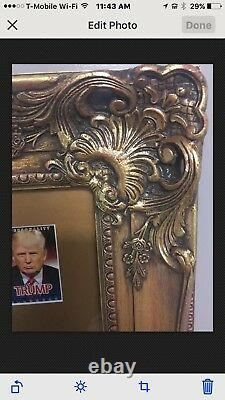 Donald Trump President Sign Autograph ticket from Inauguration, Childhood Photo