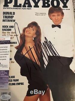 Donald Trump President Signed Autograph Playboy Jsa #n90635