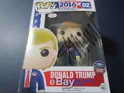 Donald Trump President Signed Autographed Funko Pop 02 Figure w COA