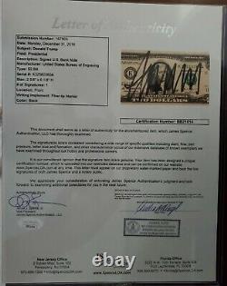Donald Trump Signed $2 Bill PSA and JSA COA